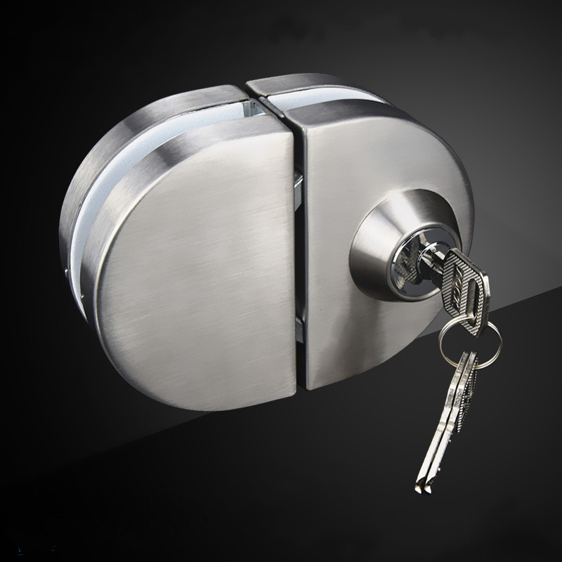 High-quality stainless steel door lock single-door Double door glass door lock Furniture hardware accessories high quality qrignal best selling 304 stainless steel glass door lock with keys factory direct price