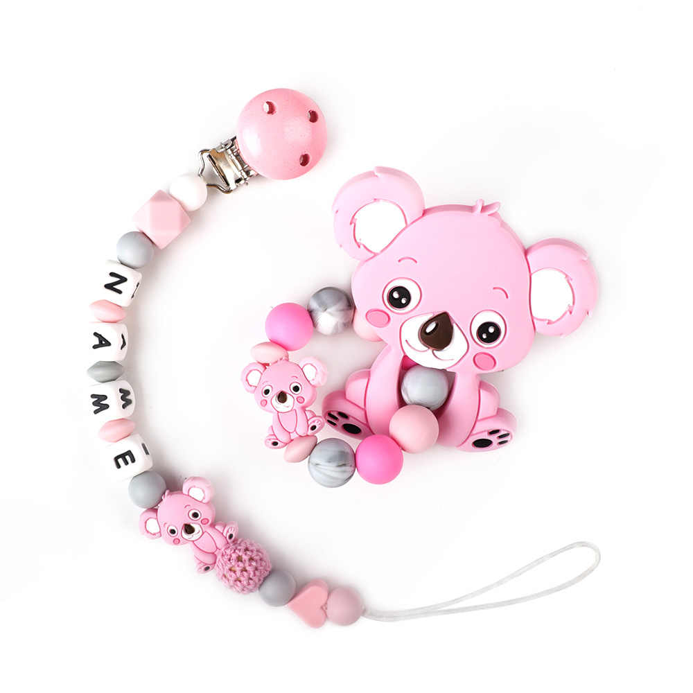 MCGMITT 1PC Silicone Beads Baby MINI TEETHER Food Grade Silicone Teething Beads DIY Necklace Pacifier chain Chews baby products