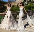 Romântico Vestido de Casamento Da Sereia 2017 Nova Projeto Original Duas Peças de Festa Elegante Estilo do Desenhador Vestidos de Noiva Robe De Mariage