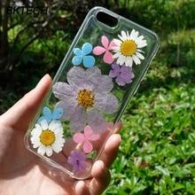 DIY Handmade 3D Amber Feeling Preserved Fresh Flower Transparent TPU Cases for Apple iPhone 5S SE 6 6s 7 7plus Shell Cover Cases