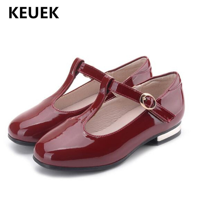 44061e331 New Spring Autumn Children Leather Shoes Girls Princess Low Heeled Black  Student Dress Shoes School Baby