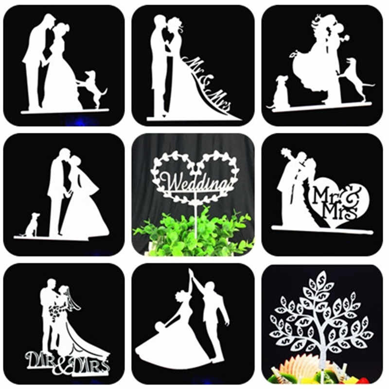 Bride And Groom Cake Topper Party Favors Mr Mrs Wedding Cake Topper Weeding Decoration Party Supplies Silver Wedding Cake Topper
