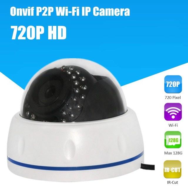Wireless Dome IP Camera indoor 720P HD CCTV Security Video Network Surveillance IP Camera Wifi