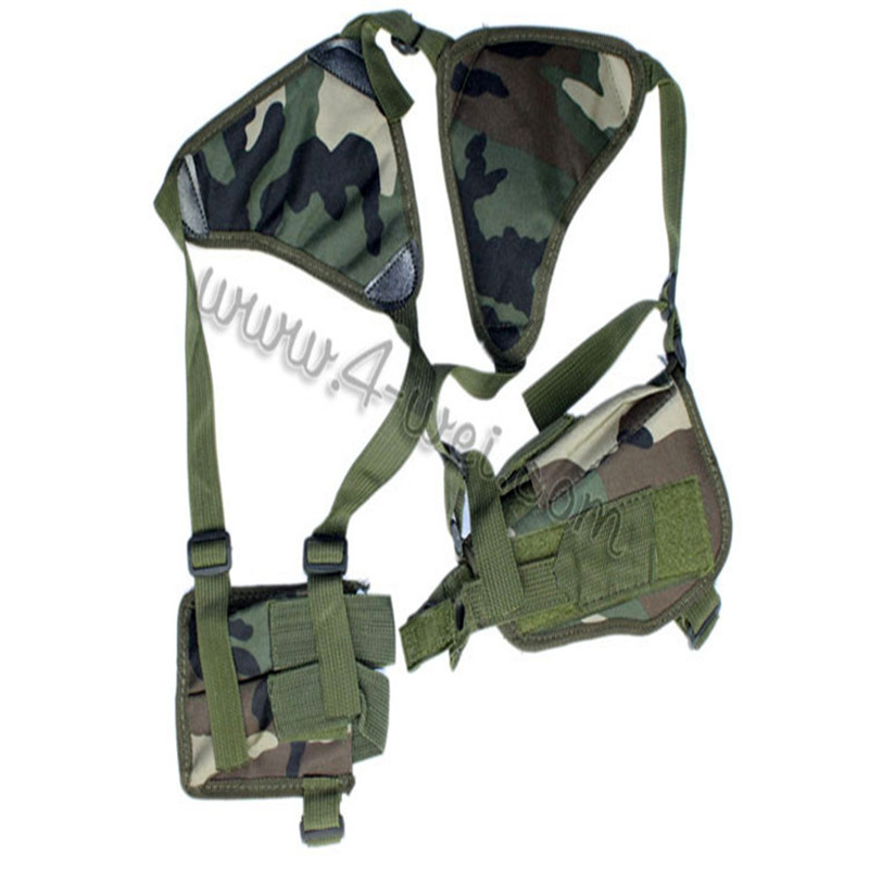 Tactical armpit right handed Oxter Pistol Holster with magazine pouch for Handgun Pistol Revolver Jungle black