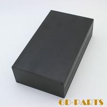 1 UNID Negro Chasis De Aluminio Completo Caso Caja Para Vintage Tube Hifi Audio Amplificador DIY 245*145*70mm
