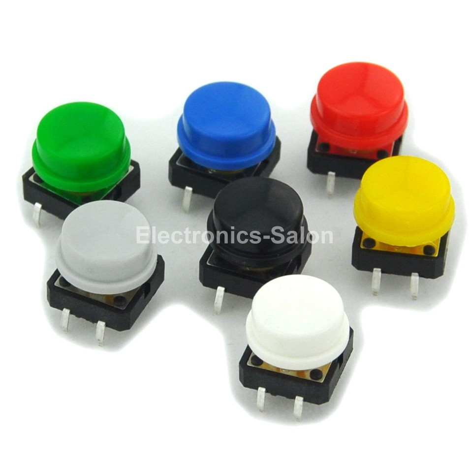 Momentary OMRON B3F-4055 Tactile Switch /& 7 Color KeyCaps Kit 12x12x7.3mm