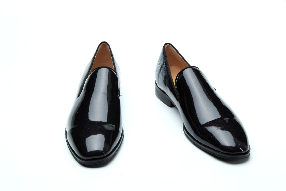 Mocassim masculino classic black patent leather slip on loafers dress party  wedding shoes men gents elegant oxford italian -in Formal Shoes from Shoes  on ... 8c2a26782c4c