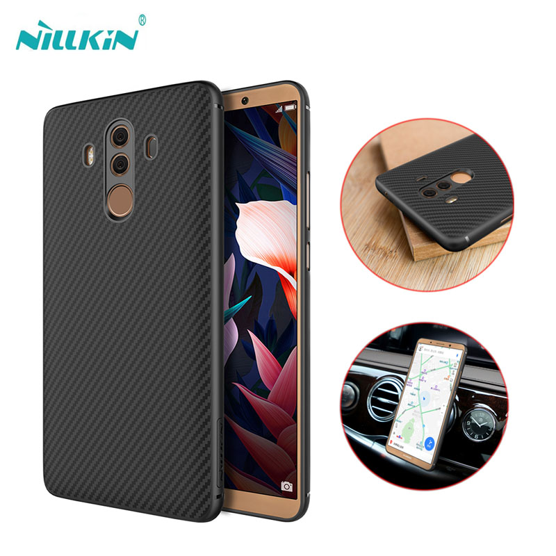For Huawei Mate 10 10 Pro NILLKIN Luxury Synthetic Fiber + PP Hard Cover Case For huawei mate 10 pro case fit with Car Holder