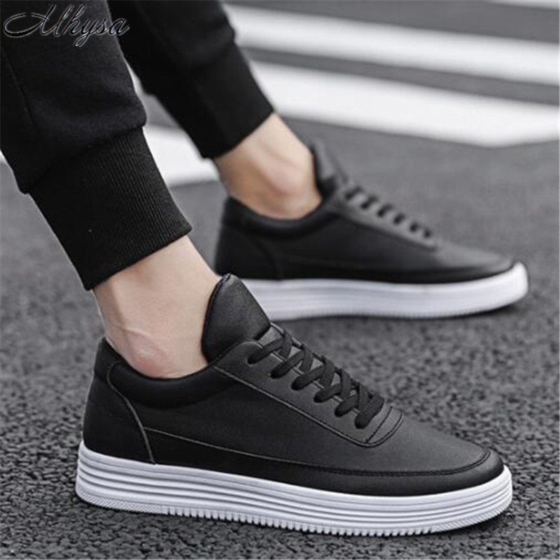 Mhysa 2019 New Spring And Autumn Men's Shoes Wild White Shoes Low To Help Breathable Casual Non-slip Resistant Sports Shoes Z96