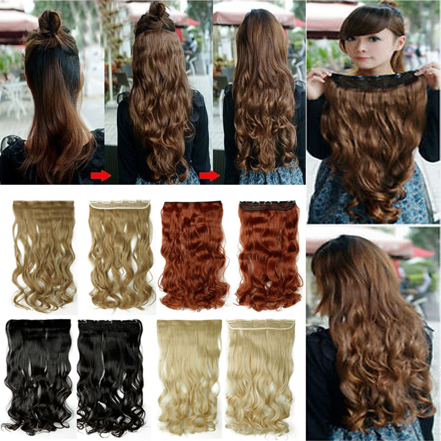 Curly 24 34 Clip In Hair Extensions Full Pretty Girls -5676