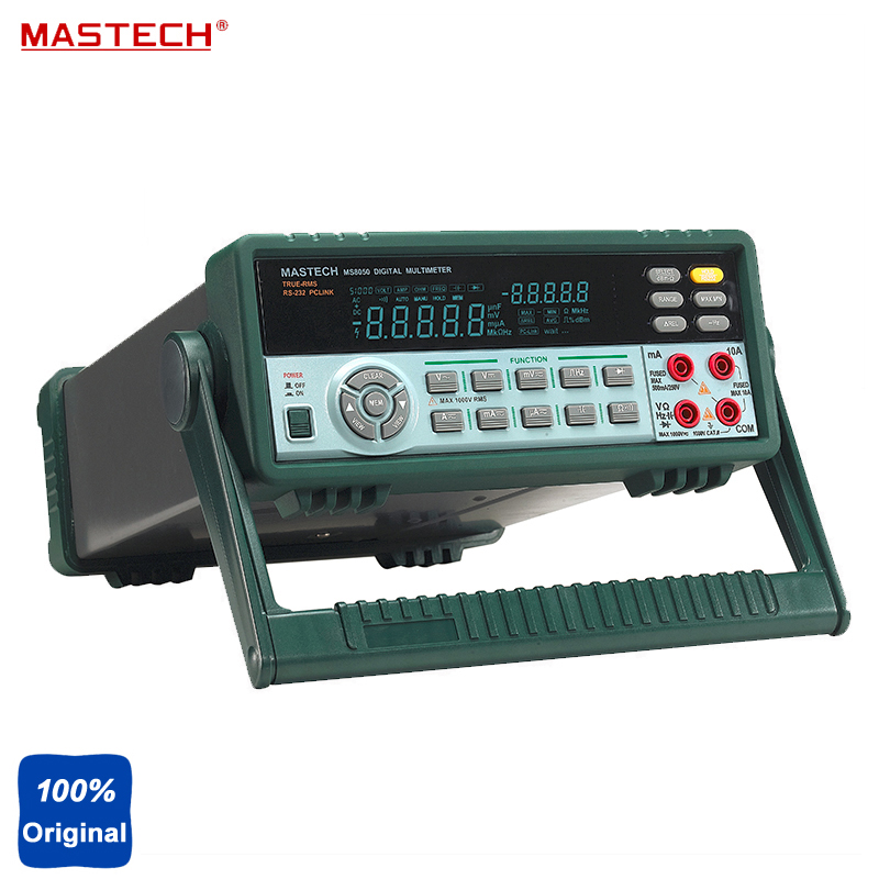 53000 Counts VFD Display Autoranging Bench Top Multimeter High Accuracy True RMS RS232C MASTECH MS8050 цена