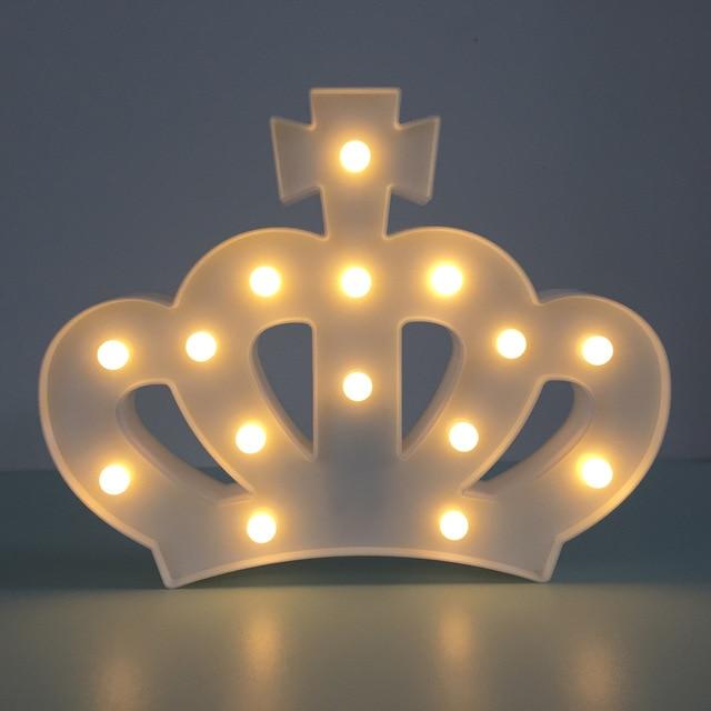 Die Krone 3D Nachtlicht Led Lampe Kreative Wandleuchte Kinderzimmer Schlafzimmer  Lampe AA * 2 Batterie