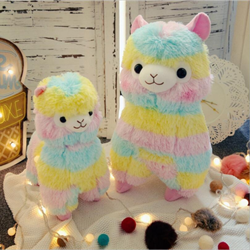 Ny Alpaca Vicugna Pacos Mjuk Arpakasso Alpacasso Rainbow Plush Doll Stuffad Toy
