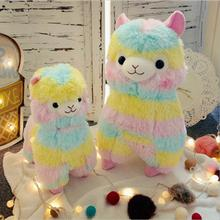 New Alpaca Vicugna Pacos Soft Arpakasso Alpacasso Rainbow Plush Doll Stuffed Toy