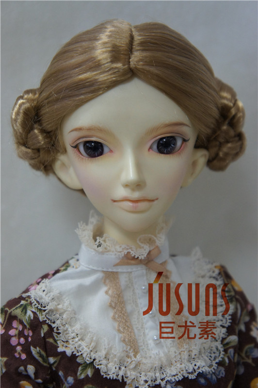 купить SD doll wigs 8-9inch   Lovely Ballerina Wigs 1/3 synthetic mohair BJD wig  Porcelain doll accessories дешево