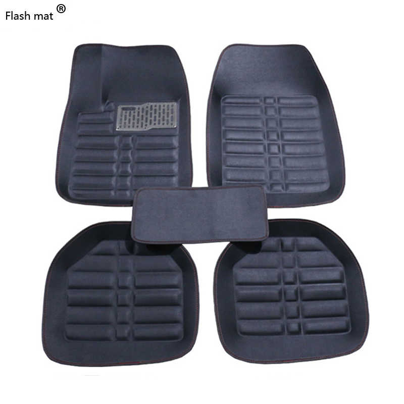 Flash mat Universal car floor mats for Toyota Corolla Camry Rav4 Auris Prius Yalis Avensis Alphard 4Runner Hilux highlander foot