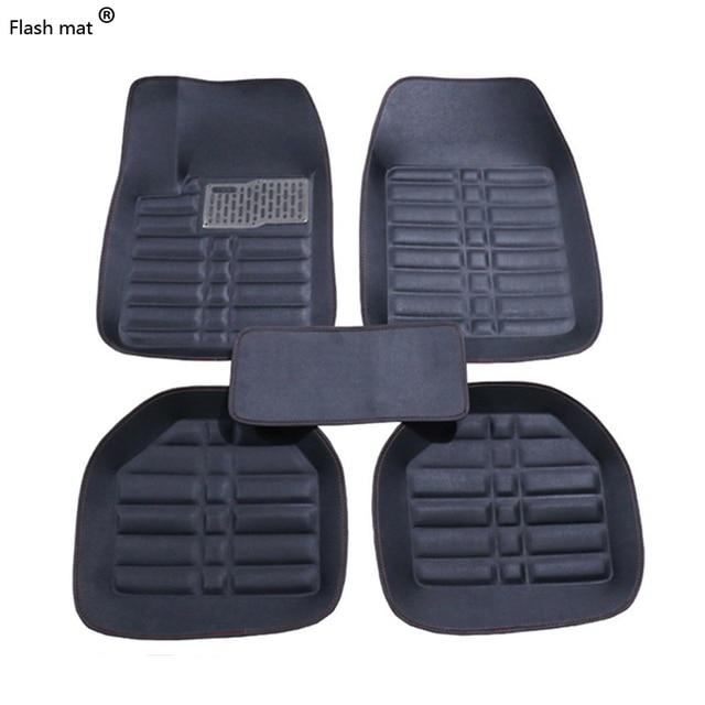 Flash mat Universal car floor mats for Toyota Corolla Camry Rav4 Auris Prius Yalis Avensis Alphard 4Runner Hilux highlander foot