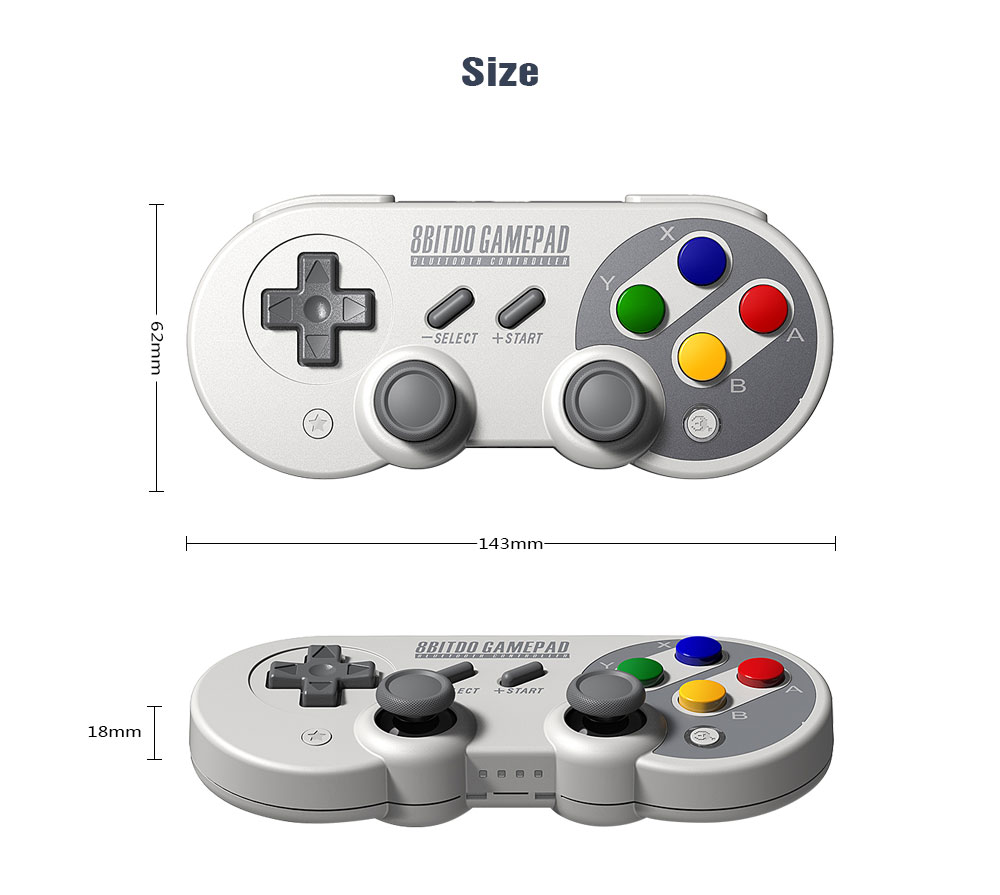 Official 8BitDo SF30 Pro Wireless Bluetooth Gamepad Controller with Joystick for Windows Android macOS Nintendo Switch Steam 13