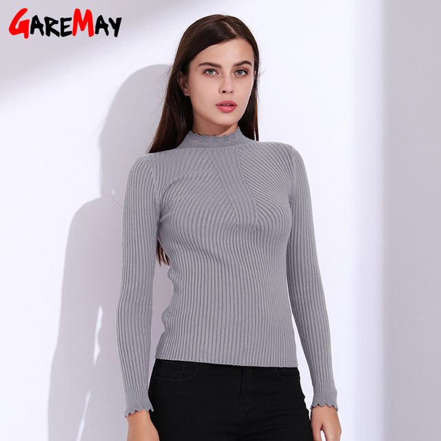5e06178a2e5 Sweater Female Autumn Winter Women Turtleneck Pull Femme Knitwear Women  Sweaters And Pullovers Womens Jumpers 2018 Tops GAREMAY