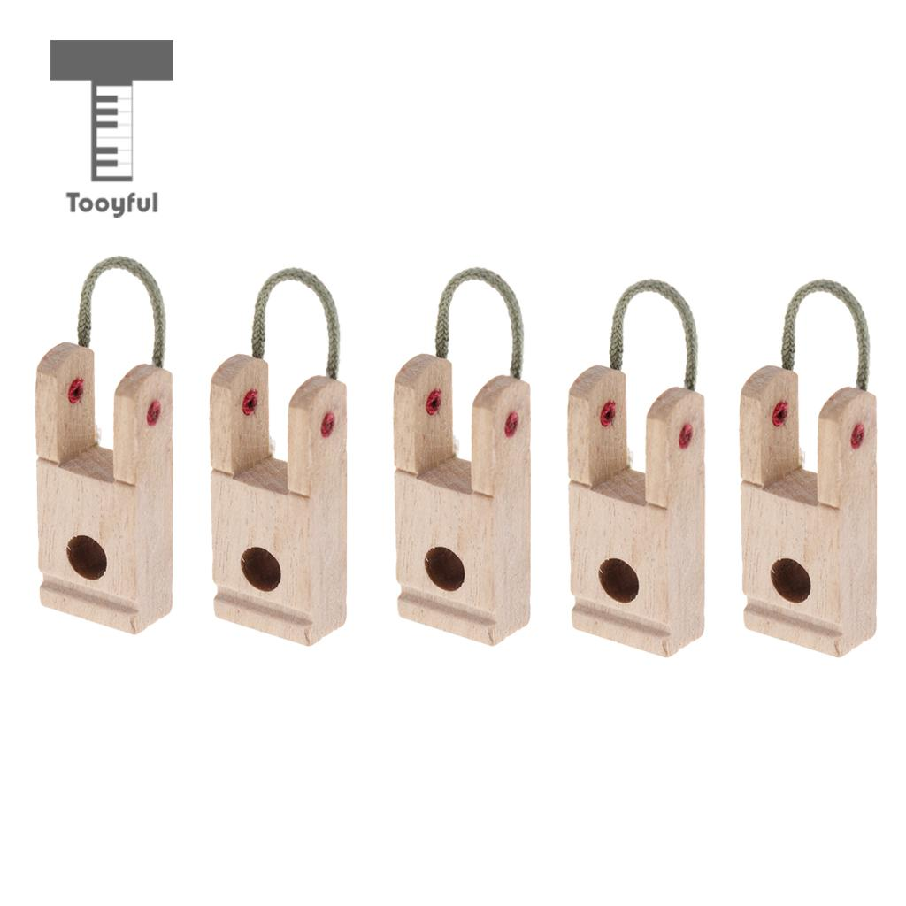 Tooyful Durable 5 Pieces Wood Piano Hammer Butt Plates/Flanges For Upright/Vertical Piano DIY Parts