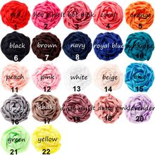 (120pcs/lot) 3 Wholesale Artificial Rolled Rose Flowers For Girl Hair Accessories Soft Baby Headwear