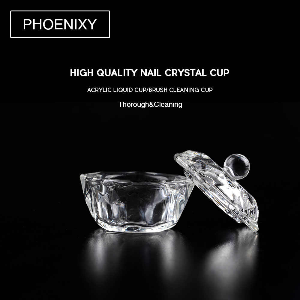 1Pcs Crystal Glass Dappen Dish Lid Bowl Cup Holder Manicure Equipment Nail  Tool For Nail Art 8ac984270422