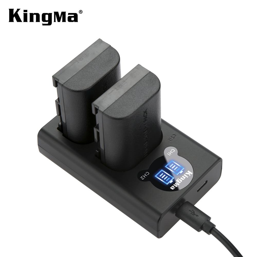 KingMa LP-E6 Batterie et LCD Double Kit de Chargeur de Batterie pour Canon EOS R 5D4 70D 6D 5D3 5D2 5DSR 7D 7D2 6D2 5D3 80D 60D LP-E6N