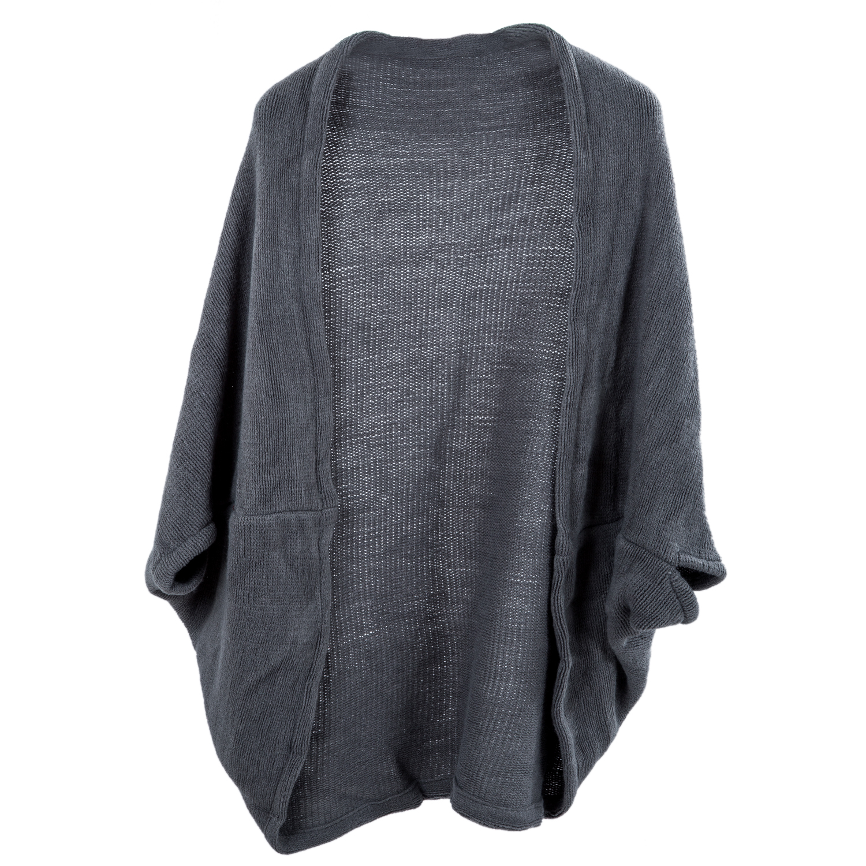 SAF-Women's Batwing Top Knit Cape Cardigan three quarter sleeve Knitwear