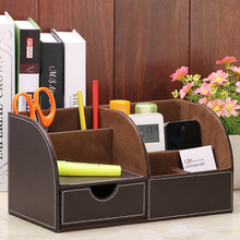 Multifunctional desktop storage box for cosmetics Large fashion remote control