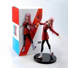 цены на 21cm Anime Darling In The Franxx Figure Toy Zero Two 02 Pvc Action Figure Collection Model Toys Xmas Gifts  в интернет-магазинах