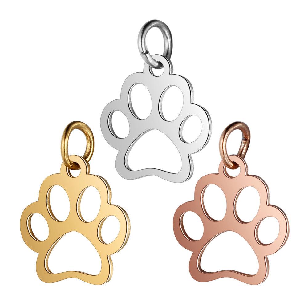 10pcs 12x21mm Stainless Steel Dog Charm Pendants Animal Charm Pendants,Stainless Steel DIY Supplies,Jewelry Findings,ST55 Pet Dog Pendants