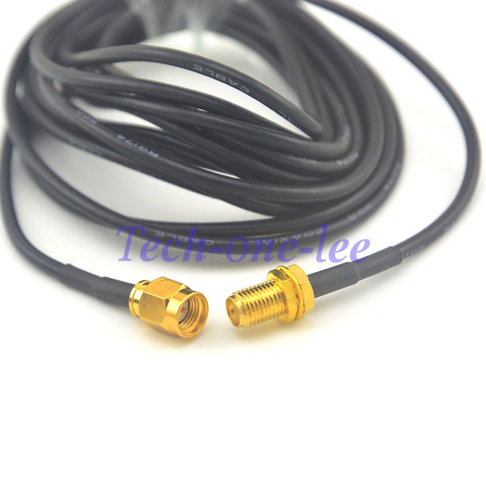 10 Pcs 10ft Sma Cable Female To Male Plug Antenna Uhf Transmitter 5pin Input Jack Wiring Microphone Extension Coax Connector 3m