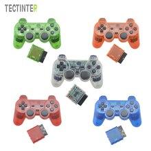 Color transparente Mando Inalámbrico Bluetooth Para Sony Playstation 2 Controle Para Sony PS2 Joystick Gamepad 2.4G Vibración