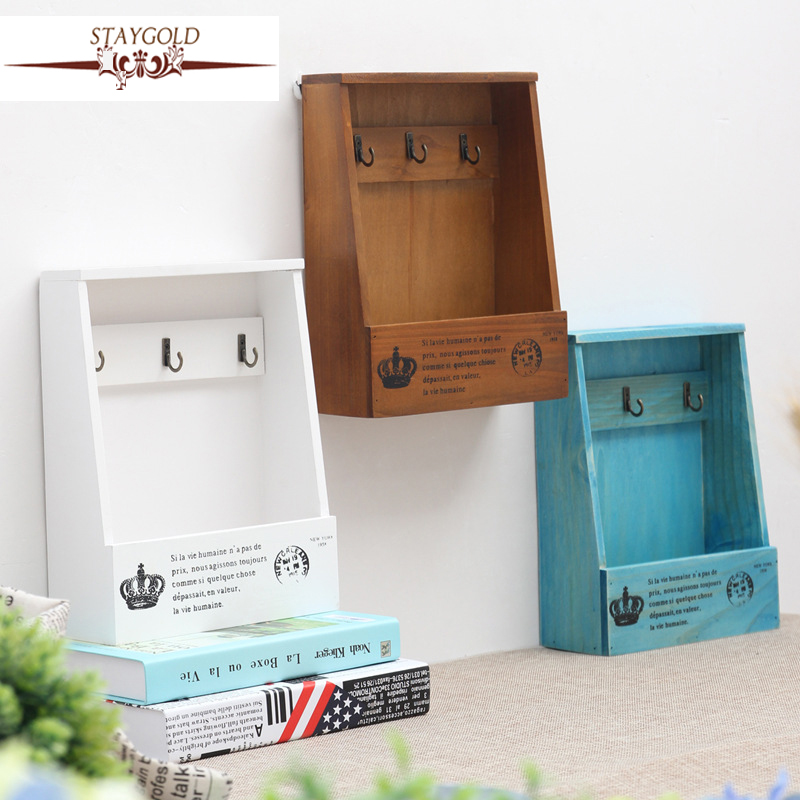 Staygold Zakka Multi Purpose Storage Rack Key Box Wood Craft Box Vintage  Home Decor Wall Hangings Storage Box Small Parts In Home Office Storage  From Home ...