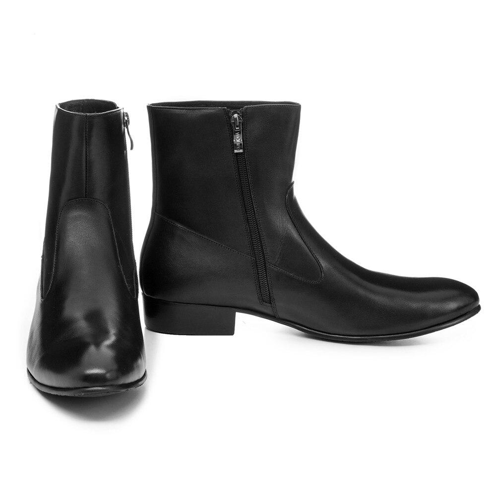 Air En Bottes Sport Véritable Cheville Motos Plein De Hommes Automne Chaussures Pointu Noir Cuir Mode Bout Jc1TF3lK