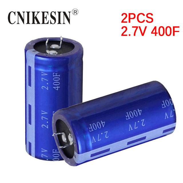 US $31 2 |CNIKESIN High quality Ultracapacitor 2 7v400f super capacitor  fast charger few seconds low esr -in Capacitors from Electronic Components  &
