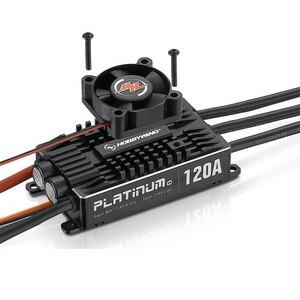 Image 1 - Hobbywing platine Pro V4, 100% Original, 120a 3 6S Lipo BEC, ESC sans balais pour Drone RC, avion, hélicoptère
