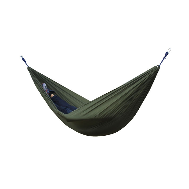 2 People Portable Parachute Hammock Outdoor Survival Camping Hammocks Garden Leisure Travel Double hanging Swing 270cmx140cm thicken canvas single camping hammock outdoors durable breathable 280x80cm hammocks like parachute for traveling bushwalking