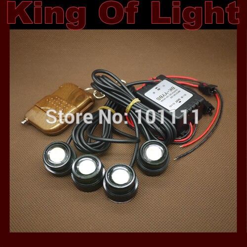 DIY 4*1.5W IP68 Strobe Flash Eagle Eyes Waterproof Eagle Eye LED Daytime Running Brake Lamps car Lights parking