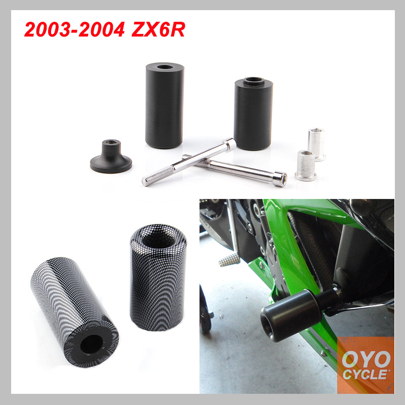 No Cut Frame Slider Pad For 2003-2004 Kawasaki Ninja ZX6R ZX 6R 6RR ZX-6R ZX-6RR ZX6RR Crash Falling Protection Motorcycle Parts