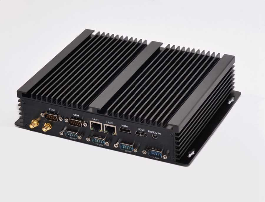 Image 4 - Fanless Industrial Mini PC Win10 Core i3 4010U i5 4200u i7 5550U 2*Intel Gigabit Lans 6*RS232 8*USB Micro Computer 2*HDMI