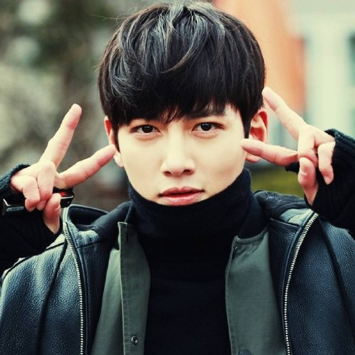 Han Ji Chang Wook Wig Male Handsome Cute Short Oblique Bangs Korean