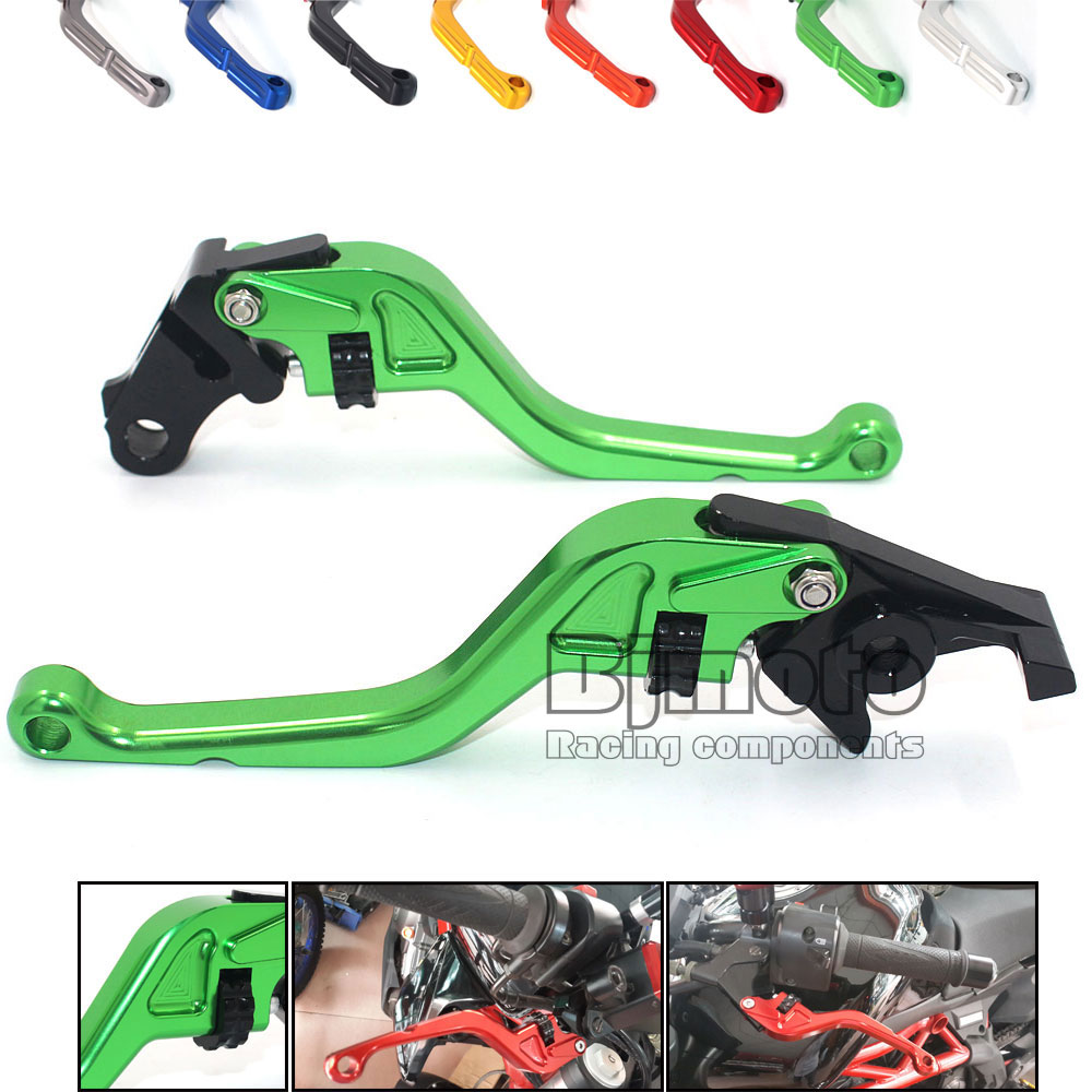 ФОТО Aluminum Adjustable Motorbike Brakes Clutch CNC Levers For Kawasaki Z750 Z800 Z1000 ER6N ER6F NINJA 650R ZX6R ZX9R ZX12R ZZR600