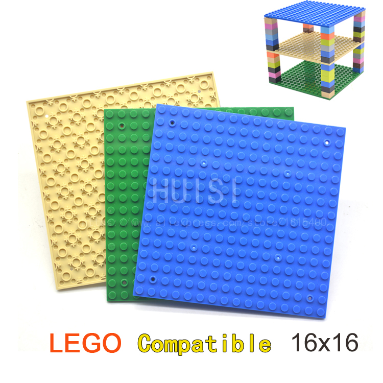 Classic Toys Building Bricks Baseplate Set For Tower Shelves Square 16x16 DIY Bricks Parts Kids Assembly