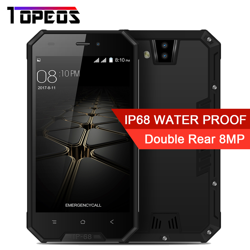 """Blackview BV4000 IP68 Waterproof Mobile Phone 4.7""""MTK6580A Quad Core 1GB 8GB Android 7.0 8MP 3680mAh Dual Rear cam Smart phone"""
