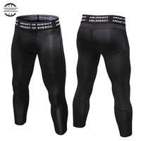 Yel Gym 3 4 Men Leggings New Compression Pants Sports Tights Sweat Pants For Men Jogging
