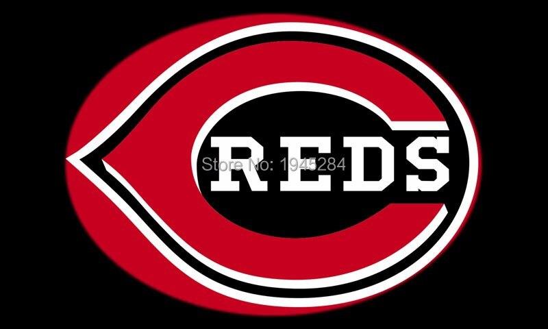 MLB Cincinnati Reds Logo Flag Banner 003 New 3x5ft 90x150cm Polyester 8811, free shipping
