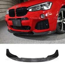 3D Стиль углеродного волокна передний бампер спойлер для BMW X4 F26 M-Sport M-TECH 14 +