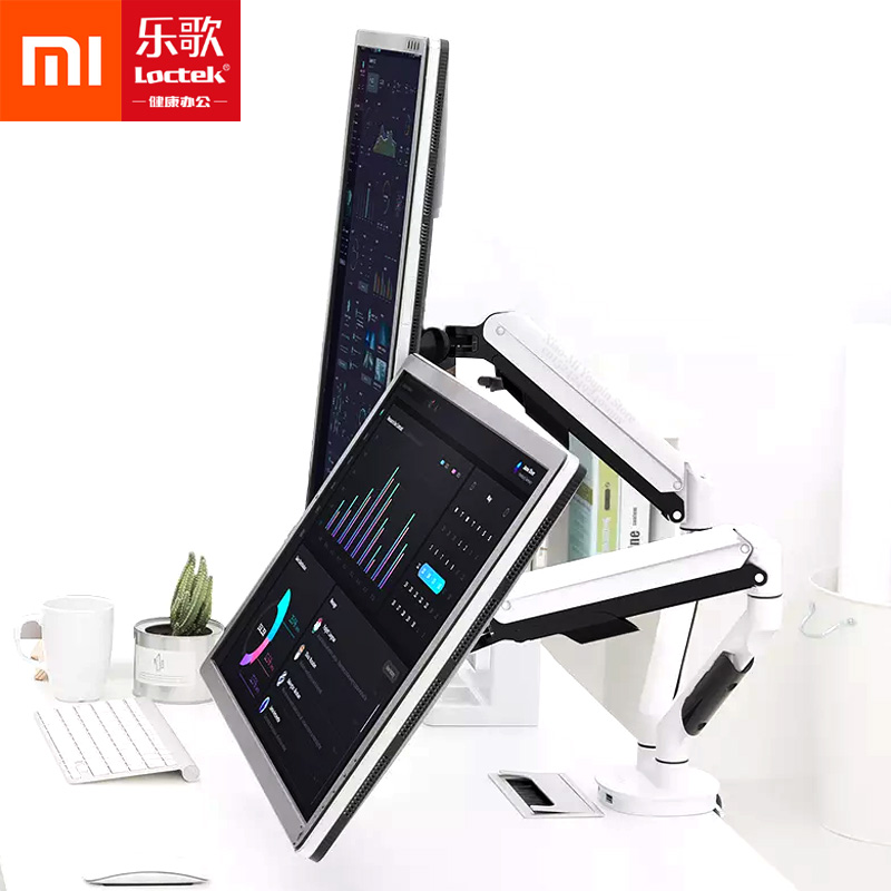 Xiaomi Mijia Loctek Multi function Pneumatic Spring Display Bracket 360 Unobstructed Rotation Stand for Office Workers