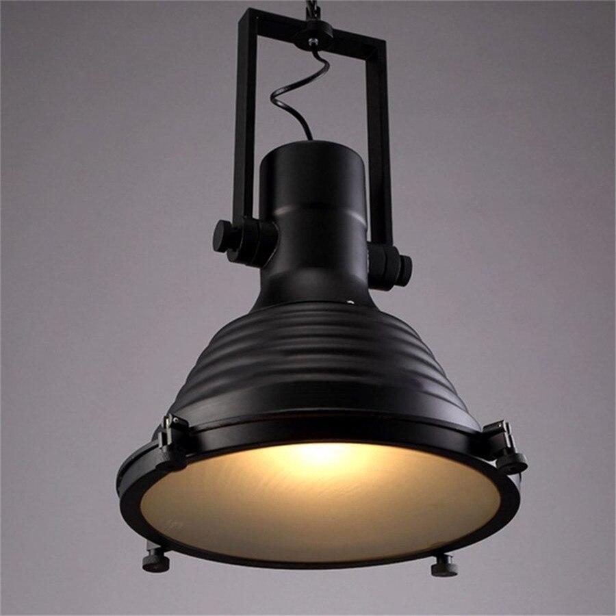 Schmiedeeisen Industriependelleuchten Vintage Schwarz Beleuchtung ...
